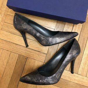 Stuart Weitzman snakeskin stiletto heels, 8.5, box